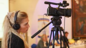 Les étudiants en mastère Communication et Webmarketing en tournage !